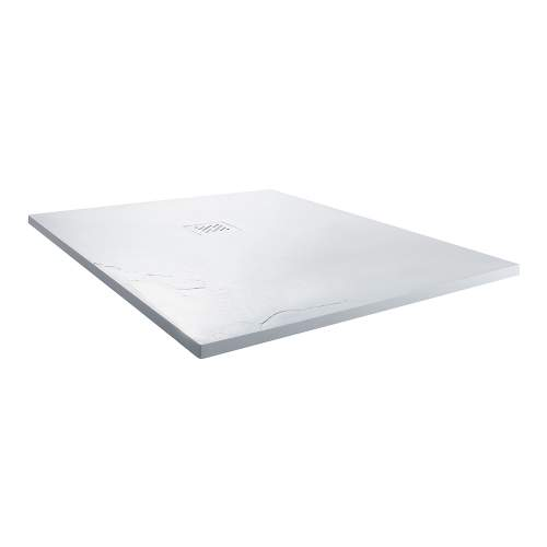 Aquabro Square Slate Effect Shower Trays in White