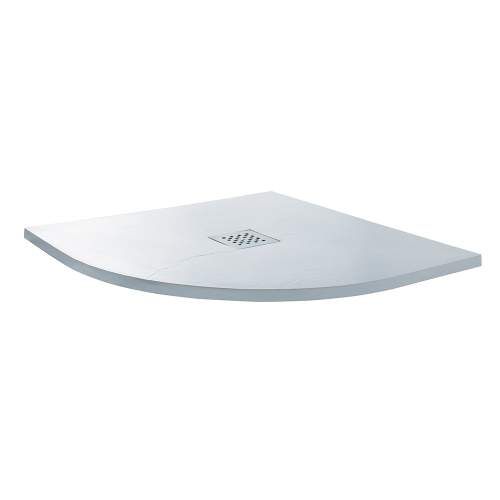 Aquabro Quadrant Slate Effect Shower Trays in White