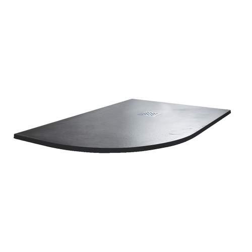 Aquabro Offset Quadrant Slate Effect Anthracite Shower Trays
