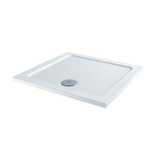 Aquabro Square ABS Stone Resin Shower Tray SQT002 760 x 760mm