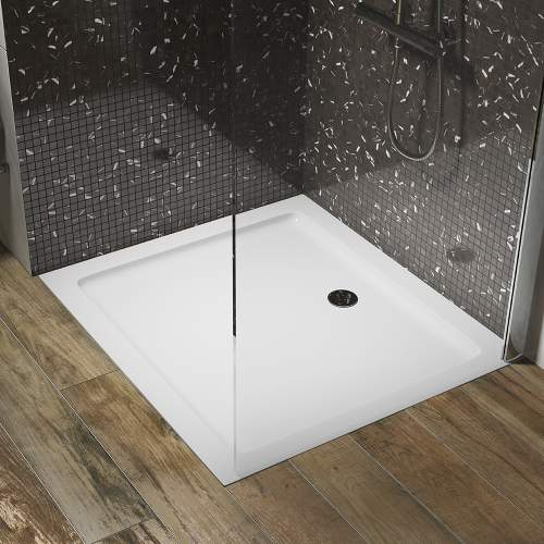 Aquabro Square ABS Stone Resin Shower Tray