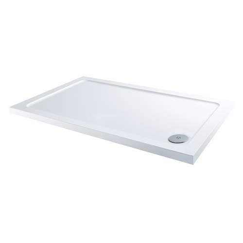 Aquabro Rectangular ABS Stone Resin Shower Tray with Corner Waste  RCT004 1200 x 800mm