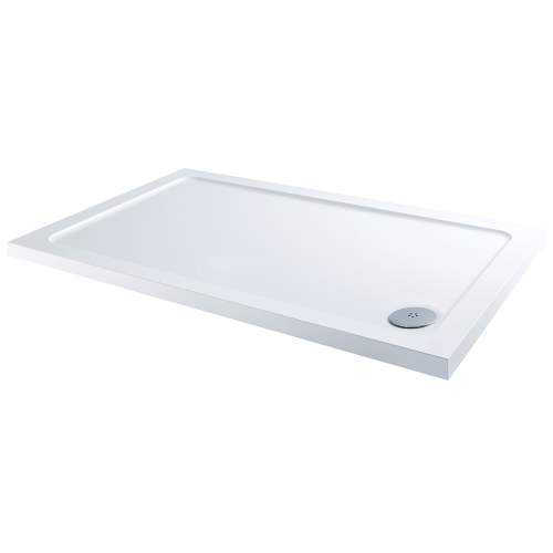 Aquabro Rectangular ABS Stone Resin Shower Tray with Corner Waste  RCT005 1200 x 900mm