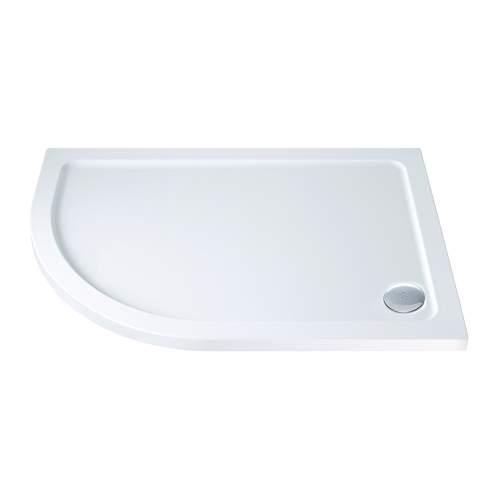 Aquabro Offset Quadrant ABS Stone Resin Shower Tray OQT001 LH 900 x 760mm