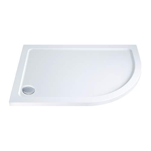 Aquabro Offset Quadrant ABS Stone Resin Shower Tray OQT002 RH 900 x 760mm