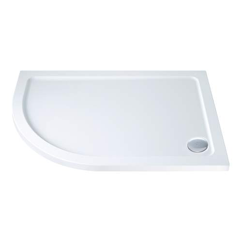 Aquabro Offset Quadrant ABS Stone Resin Shower Tray OQT003 LH 1000 x 800mm