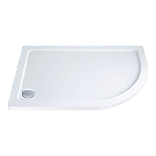 Aquabro Offset Quadrant ABS Stone Resin Shower Tray OQT004 RH 1000 x 800mm