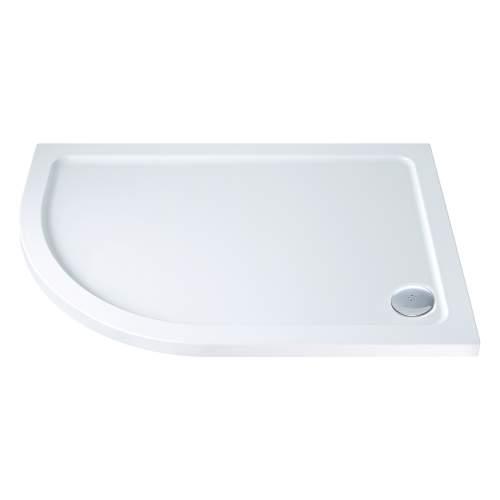 Aquabro Offset Quadrant ABS Stone Resin Shower Tray OQT005 LH 1000 x 800mm