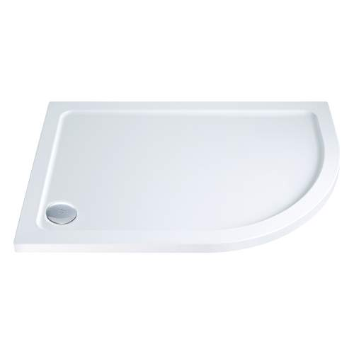Aquabro Offset Quadrant ABS Stone Resin Shower Tray OQT006 RH 1000 x 800mm
