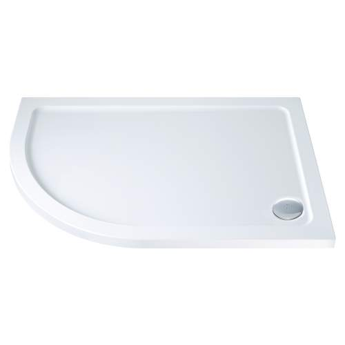 Aquabro Offset Quadrant ABS Stone Resin Shower Tray OQT007 LH 1200 x 900mm
