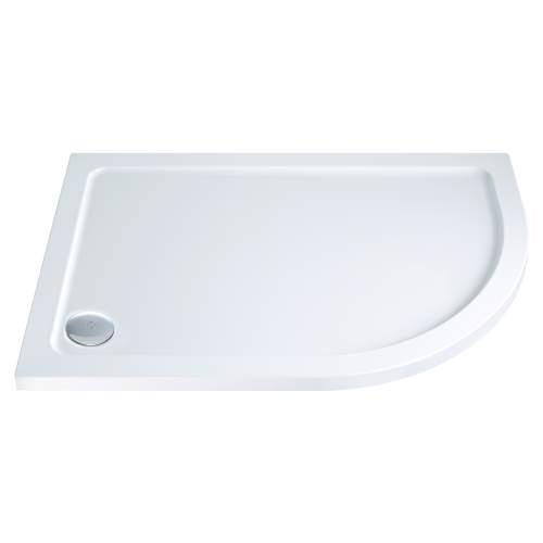 Aquabro Offset Quadrant ABS Stone Resin Shower Tray OQT008 RH 1200 x 900mm