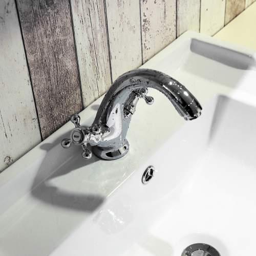 Aquabro Albert Monobloc Bathroom Basin Mixer Tap