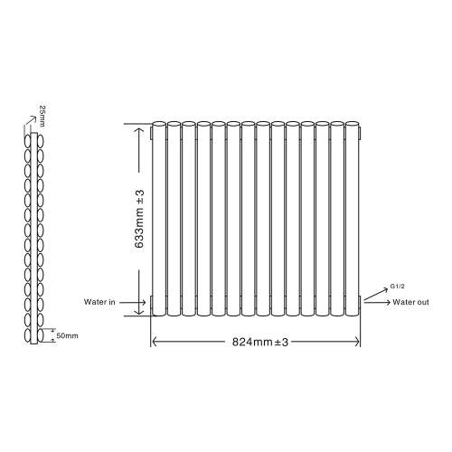 Aquabro Designer 14 Panel 633x826 Radiator