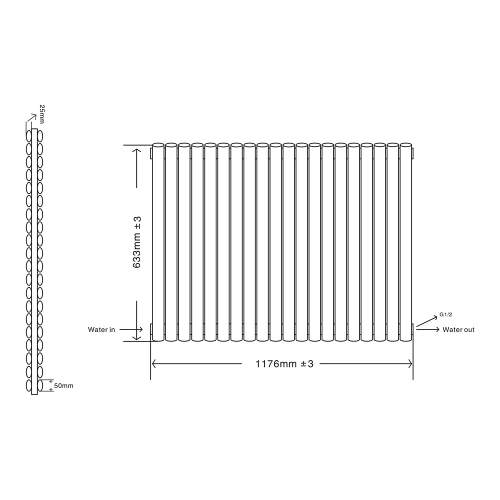 Aquabro Designer 20 Panel 633x1180 Radiator