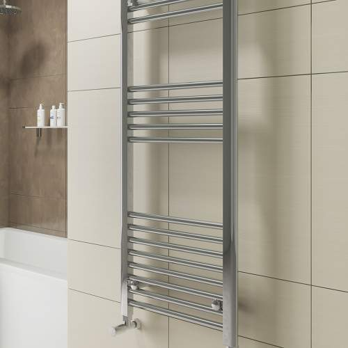 Aquabro 400 x 800 Chrome Ladder Radiator