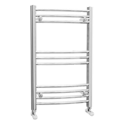 Aquabro 500 x 800 Chrome Curved Ladder Radiator