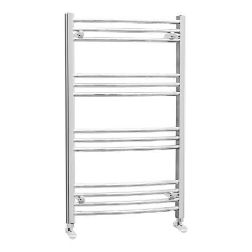 Aquabro 600 x 1000 Chrome Curved Ladder Radiator