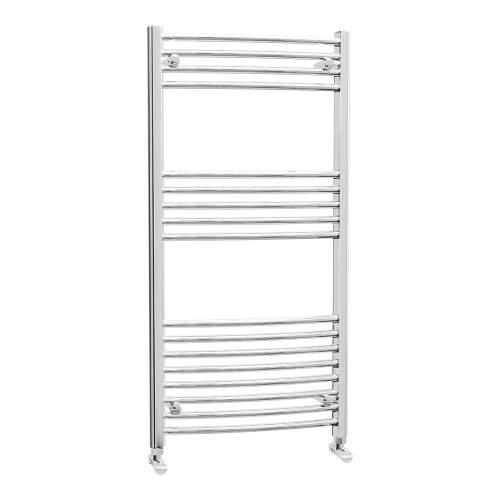 Aquabro 600 x 1200 Chrome Curved Ladder Radiator