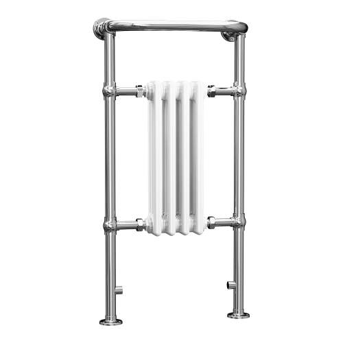 Aquabro 965x495x230 Traditional 4 Section Enamel Radiator