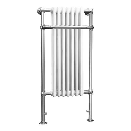 Aquabro 1130x553x230 Traditional 7 Section Enamel Towel Radiator