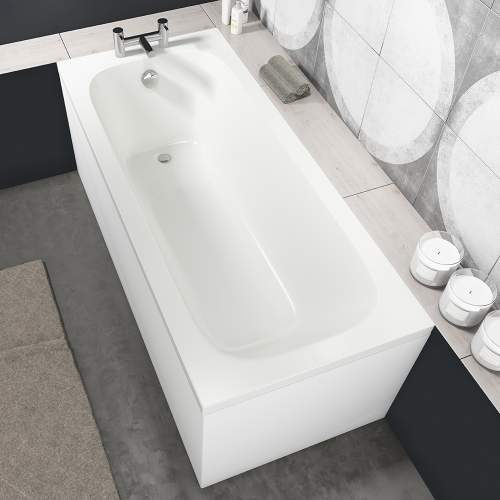 Aquabro Luton Single Ended Round Style Standard Bath