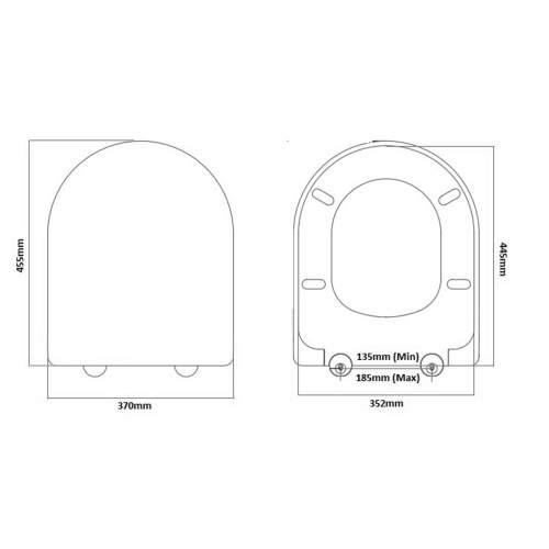 Aquabro D-Shape Quick Release Heavy Duty Toilet Seat