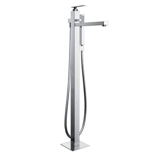 Abode Marino Floor Standing Bath Filler with Shower Handset