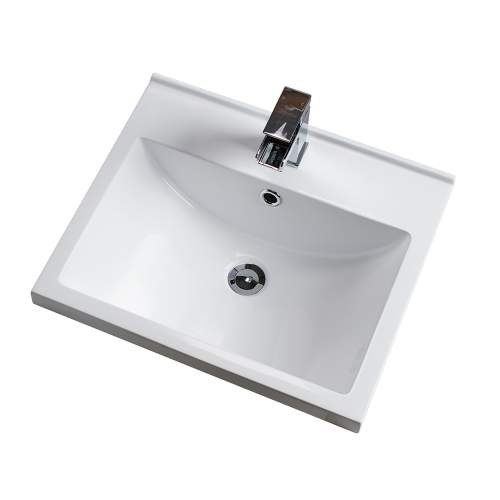 Aquabro Idon 500 Mid-Edge Style Polymarble Bathroom Basin