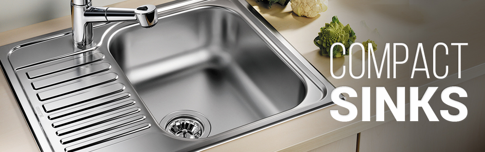 Compact Sinks from www.sinks-taps.com