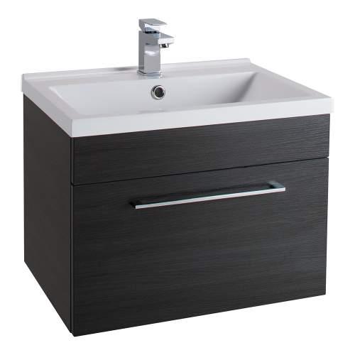Aquabro Idon 600 Single Drawer Wall Hung Basin Unit