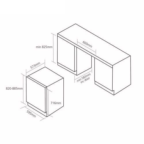 Caple  Sense Wi6132WH Undercounter Dual Zone Wine Cabinet