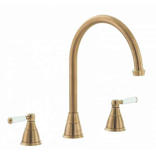 Abode Astbury 3 part kitchen mixer tap in Forged Brass - AT3073