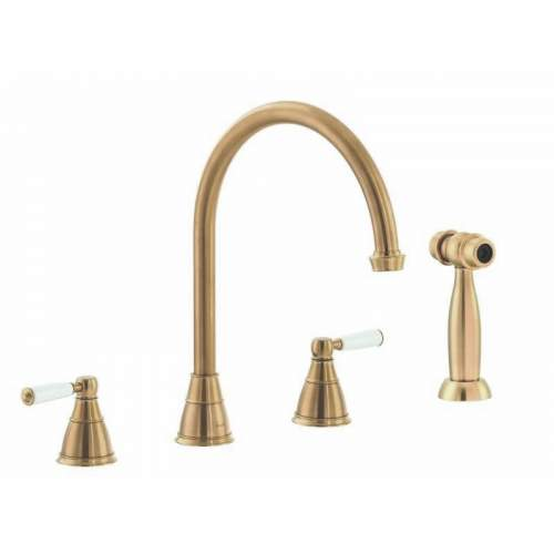 Abode Astbury 3 Part Mixer with Handspray in Forged Brass - AT3075