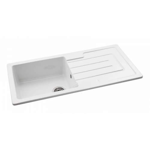 Abode Acton 1.0 Bowl Reversible Ceramic Kitchen Sink
