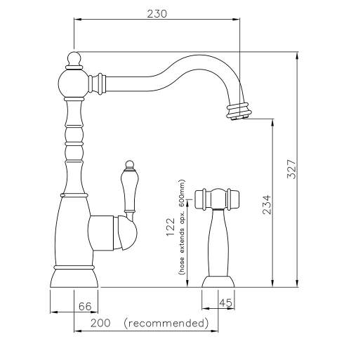 Abode BAYENNE Mixer Tap With Handspray in Century Copper -  AT3088