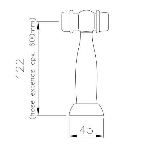 Abode HENDON Sidespray Kitchen Tap in Forged Brass - AT3101