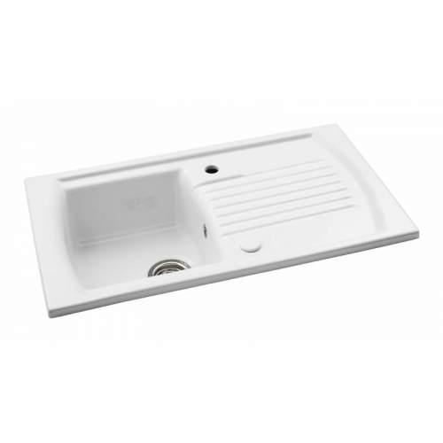 Abode Milford 1.0 Bowl Reversible Ceramic Kitchen Sink - AW1042