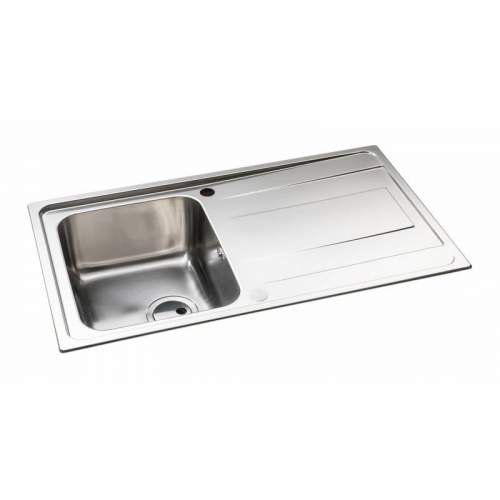 Abode Ixis Single Compact Bowl Stainless Steel Kitchen Sink - AX5101