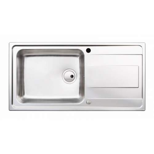 Abode Ixis Single Large Bowl Stainless Steel Kitchen Sink - AW5102