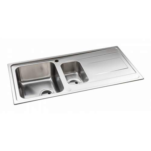 Abode Ixis 1.5 Bowl Stainless Steel Kitchen Sink - AW5103