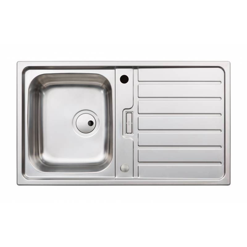 abode neron single compact bowl stainless steel kitchen sink   aw5111     abode neron single compact bowl stainless steel kitchen sink      rh   sinks taps com