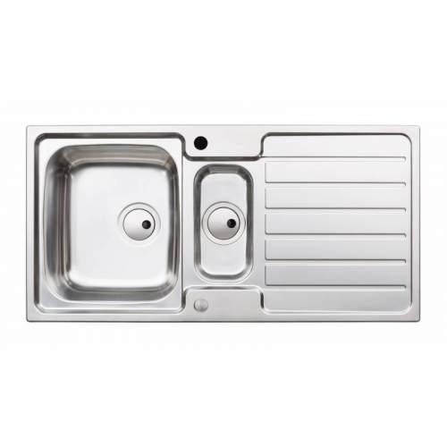 Abode Neron 1.5 Bowl Stainless Steel Kitchen Sink - AW5113