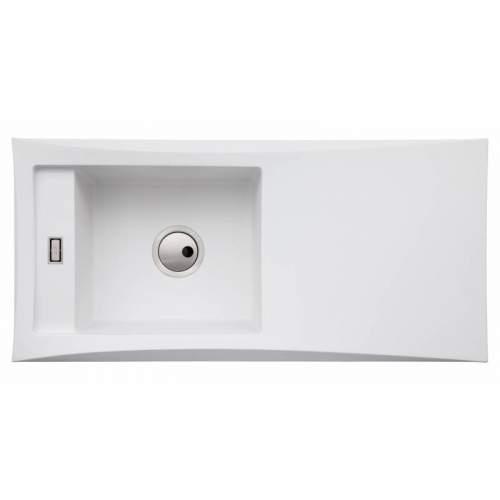 Abode Londa Single Bowl Metallic Granite Kitchen Sink - AW3152