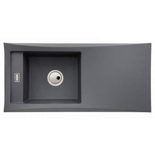Abode Londa Single Bowl Metallic Granite Kitchen Sink - AW3153