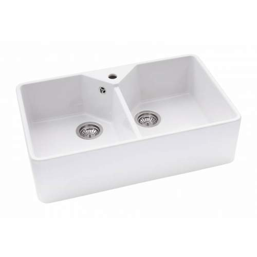 Abode PROVINCIAL Double Bowl Belfast Kitchen Sink - AW1021