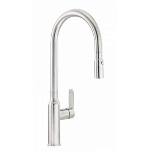 Abode MIMASA Pull Out Spray Stainless Steel Kitchen Tap - AT2081