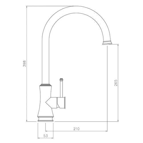 Abode CENTAUR Single Lever Stainless Steel Kitchen Tap - AT2083