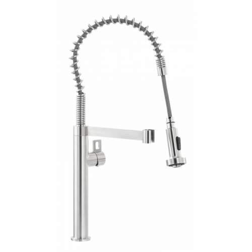 Abode VALISTA Professional Side Lever Stainless Steel Kitchen Tap - AT2079