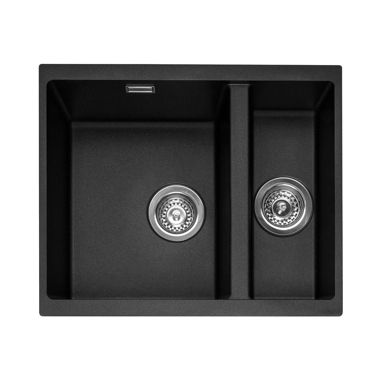 Caple Leesti 150 1.5 Bowl Undermount Granite Kitchen Sink - Sinks ...