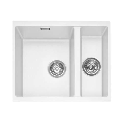 Caple Leesti 150 1.5 Bowl Undermount Granite Kitchen Sink - LEE150UCW